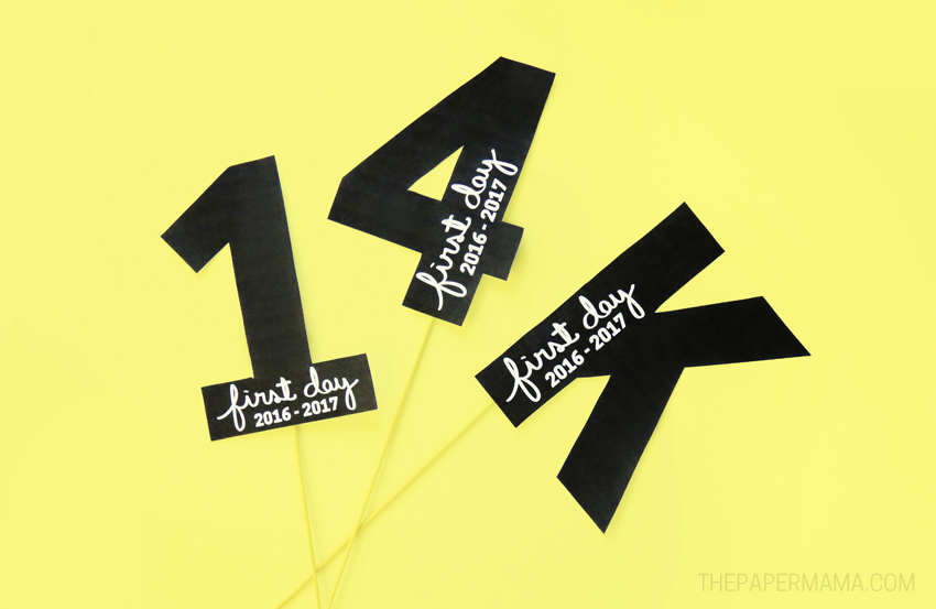 First Day of School Signs - Free Printables for you to Use for 2016 - 2017!