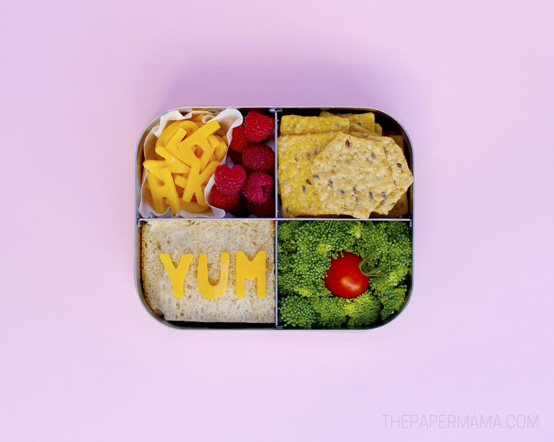 Alphabet Bento Lunch Idea for Kids