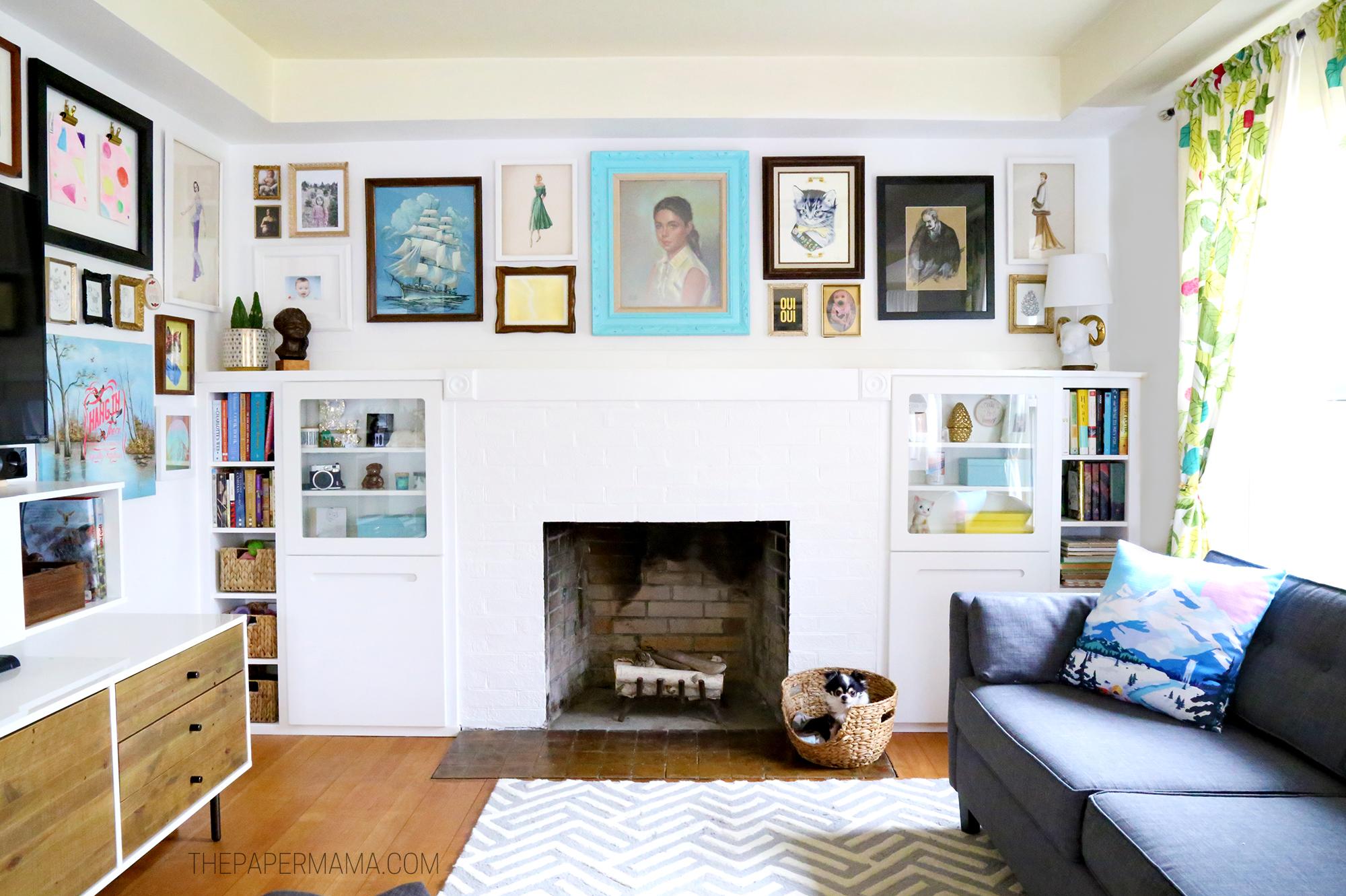 DIY Fireplace Built-ins