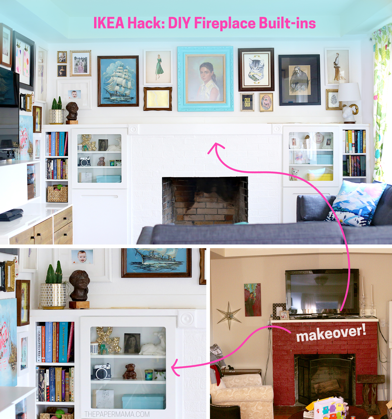 IKEA Hack: DIY Fireplace Built-ins