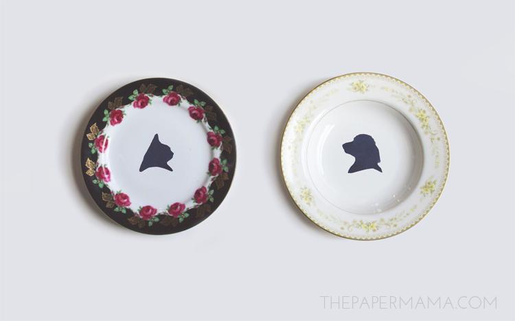 Silhouette Plates // thepapermama.com