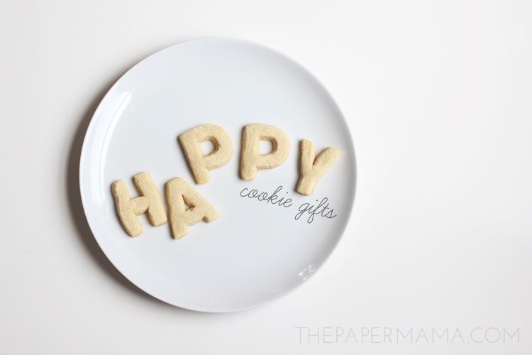 Alphabet Cookies Gift // thepapermama.com
