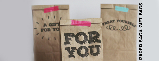 Paper Sack Gift Bags