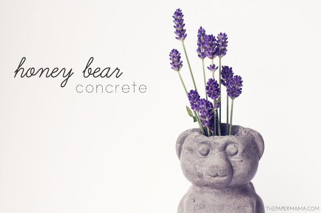 Concrete Honey Bear // thepapermama.com