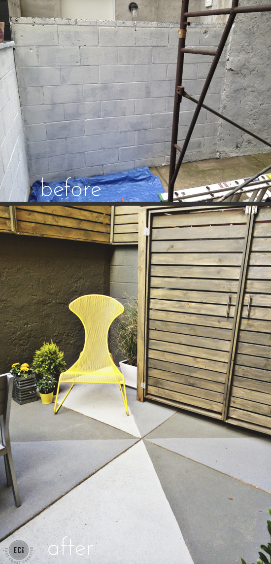 Urban patio makeover, on East Coast Creative Blog.