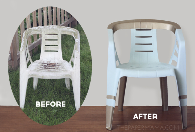 http://thepapermama.com/2013/07/revamped-outdoor-chair/