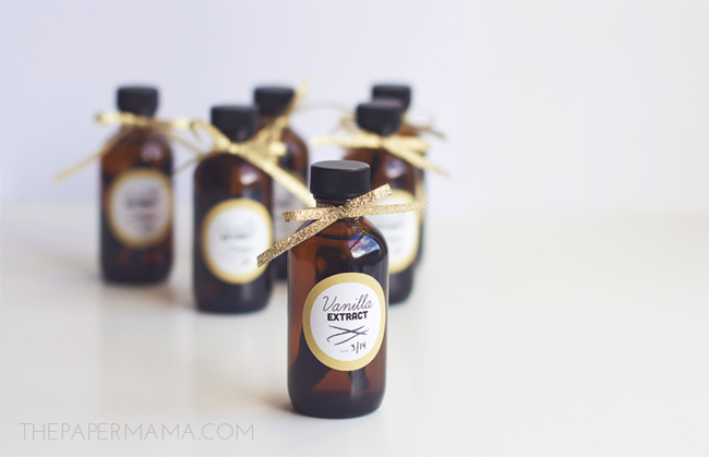 Homemade vanilla extract would also make a great gift for the cook in your life, on The Paper Mama.
