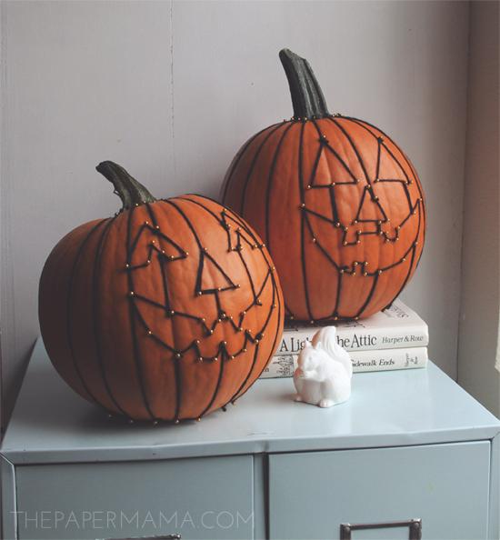 Yarn Pumpkin Face