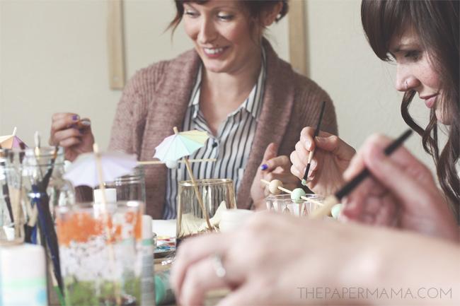 Craft Time with Friends, a Yummy Coffee Milkshake Recipe // thepapermama.com