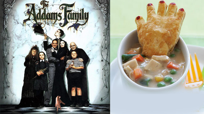 The Addams Family and Chicken Pot Pot with Crawling Hand