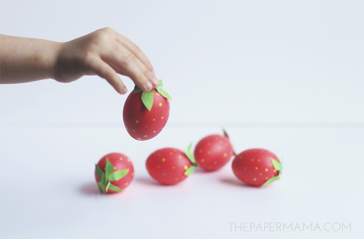 Strawberry Easter Egg DIY
