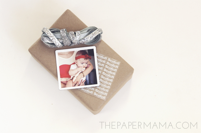 Photo Magnet Gift Tag // thepapermama.com
