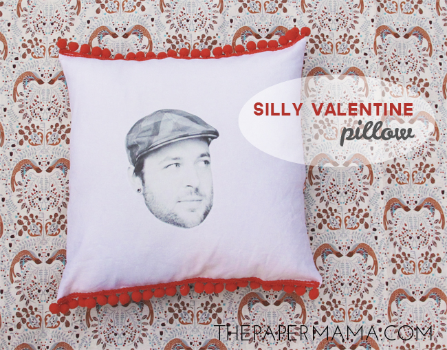 Silly Valentine Pillow // thepapermama.com