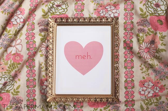 Free Valentine's Heart Print // thepapermama.com