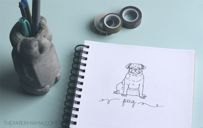 Week 4 of 52 weeks of Drawing: 4 Legged Friend // thepapermama.com
