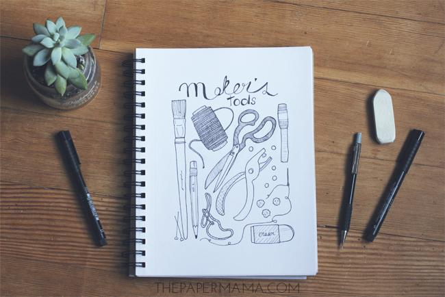 Week 6 of 52 weeks of Drawing: tool // thepapermama.com