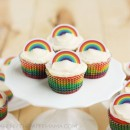 Rainbow Cupcake Recipe and Rainbow Cupcake Topper Printables // Lulu the Baker for thepapermama.com