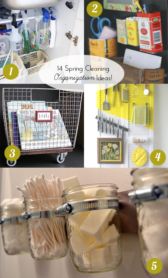 14 Spring Cleaning Organization DIY Ideas // BHG Style Spotters