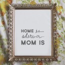 Home Is Wherever Mom Is Free Printable // thepapermama.com