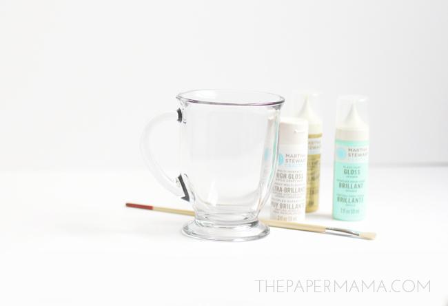 Splatter Painted Glassware // thepapermama.com