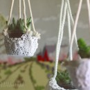 Hanging Doily Planter DIY