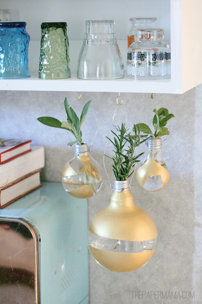 Lightbulb Herb Base // thepapermama.com