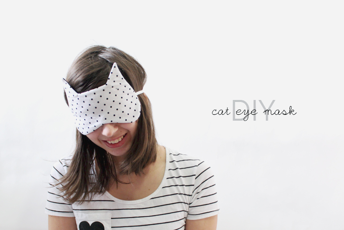 I like eye masks for flying and long car rides. Make this cat eye sleep maskfor the traveling cat lady in your life, from Holly Dolly.