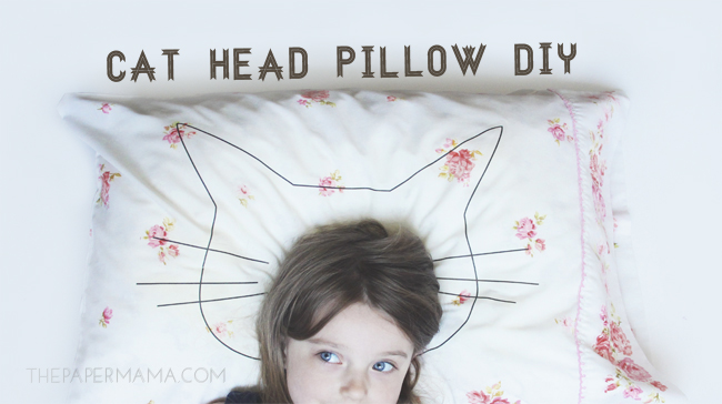 Cat Head Pillow DIY