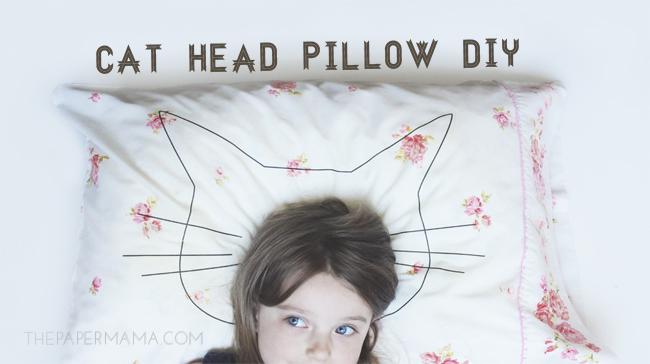 Cat Head Pillow DIY