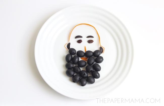 Fun Kid Snack Ideas: bearded man // thepapermama.com