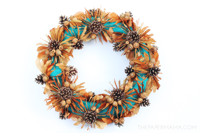 Day Fall Decoration: Maple Tree Seed Wreath