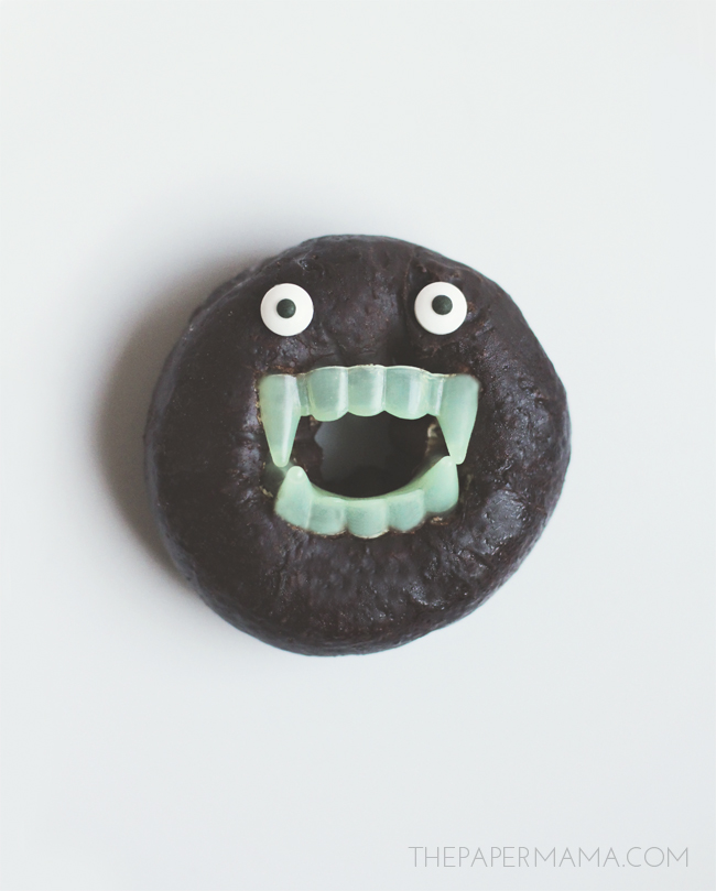 Monster Doughnut, a fun treat for kids this Halloween.