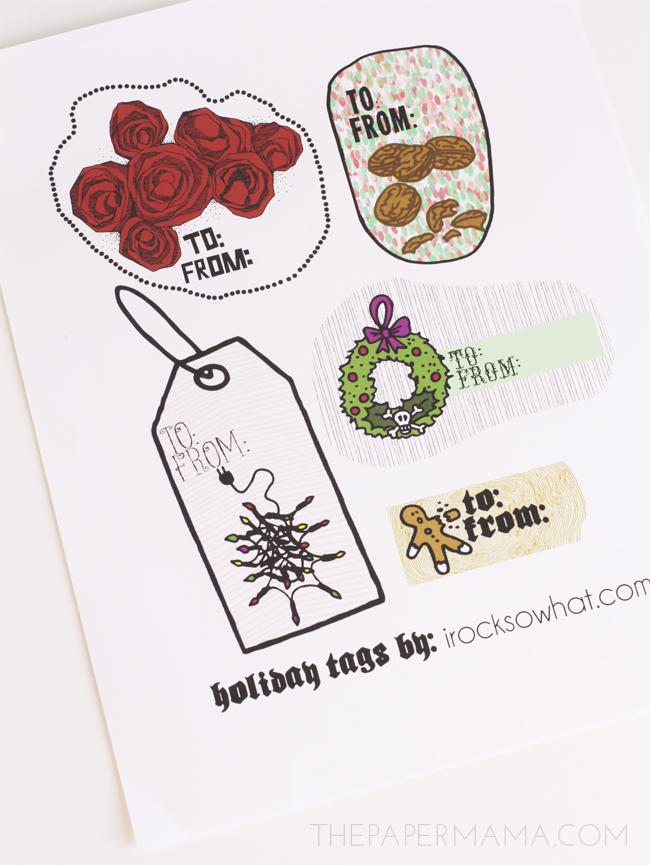 Cute Free Printable Christmas Gift Tags!