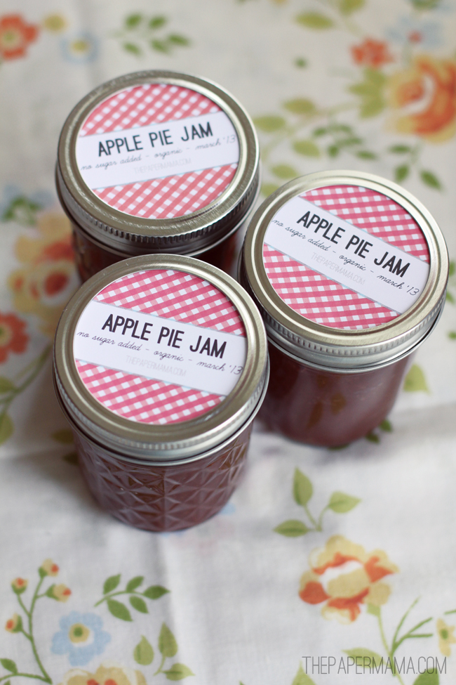 No Sugar Added Apple Pie Butter // thepapermama.com