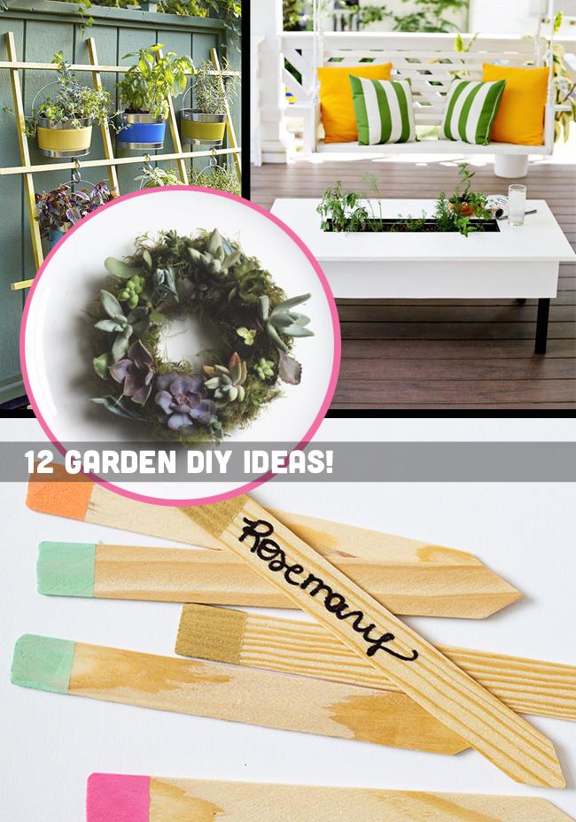 12 Garden DIY Ideas for Spring!