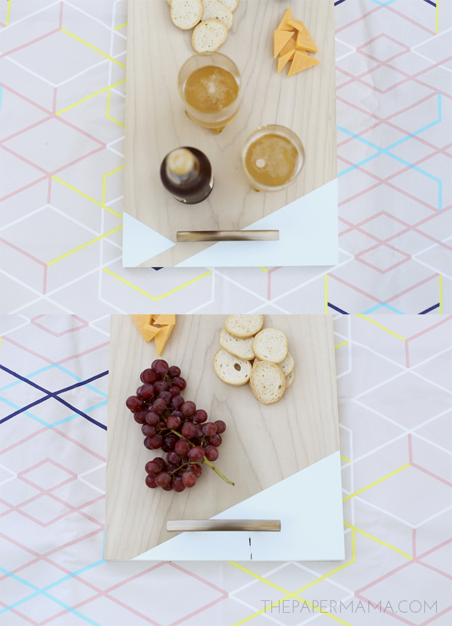 Color Block Serving Tray DIY