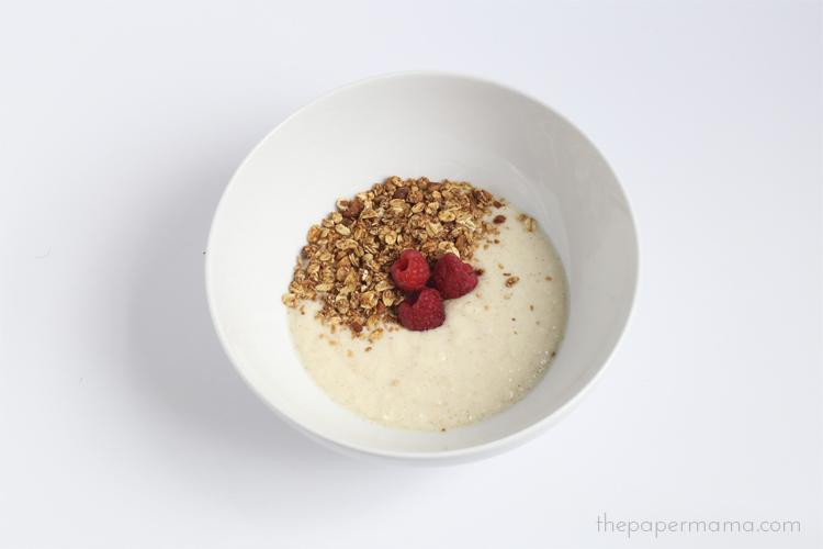 Homemade Granola (with no refined sugars) with Yogurt