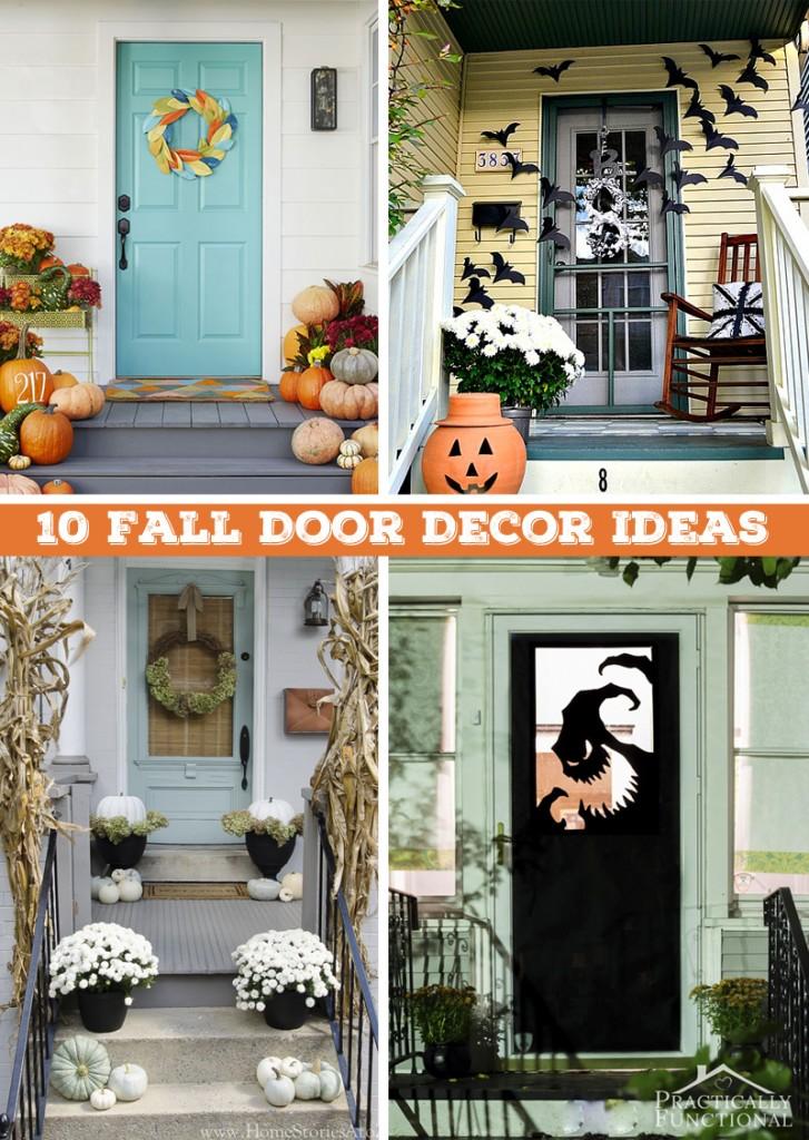 Day 8 Of My 50 DIY Days: 10 Fall Door Decor Ideas