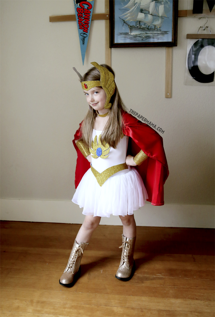 & She-ra Kids Costume DIY (with free pattern printable)