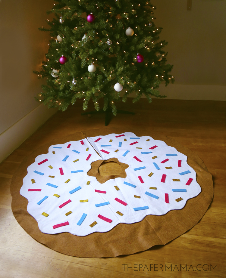 christmas craft decorations ideas day 19 decoration doughnut tree skirt diy 3570