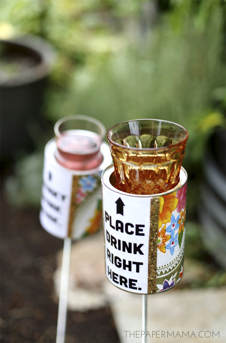 outdoor drink holder DIY