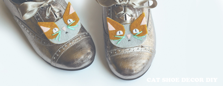 Cat Shoe Decor or Hair Clip DIY