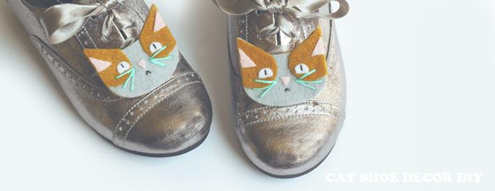 Cat Shoe Decor or Hair Clip DIY