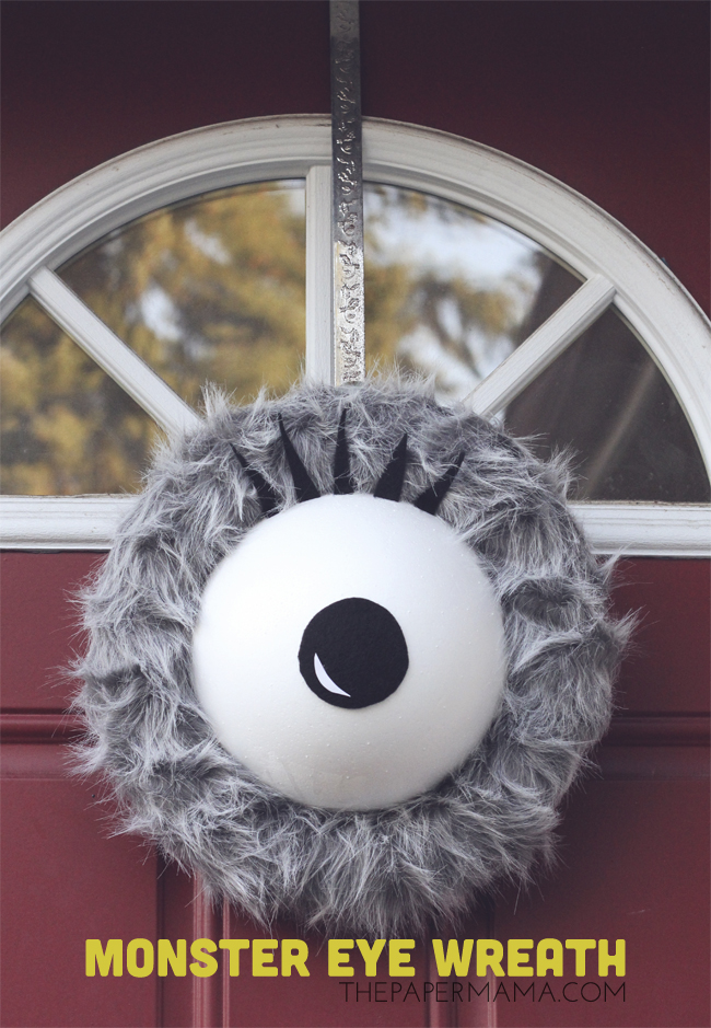 This giant monster eye will definitely scare the kiddos, on The Paper Mama.