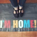 I'm Home No Sew Floor Mat // thepapermama.com
