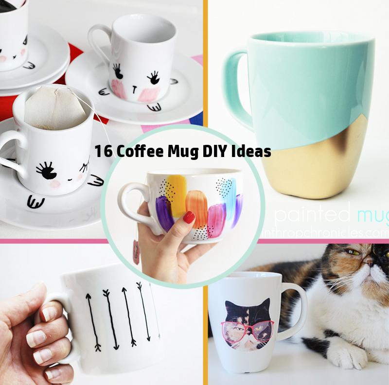 DIY-ify: 16 Coffee Mug DIY Ideas