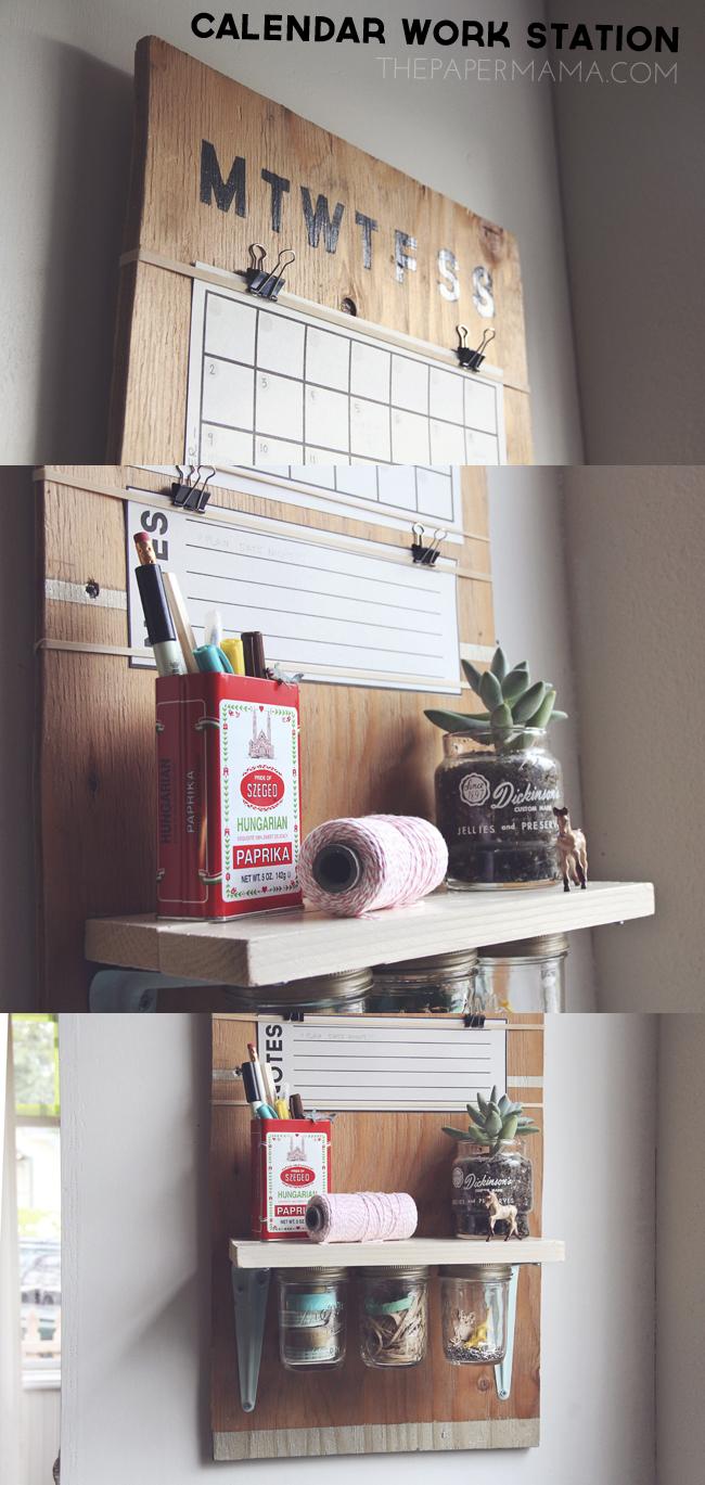 Calendar Work Space // thepapermama.com