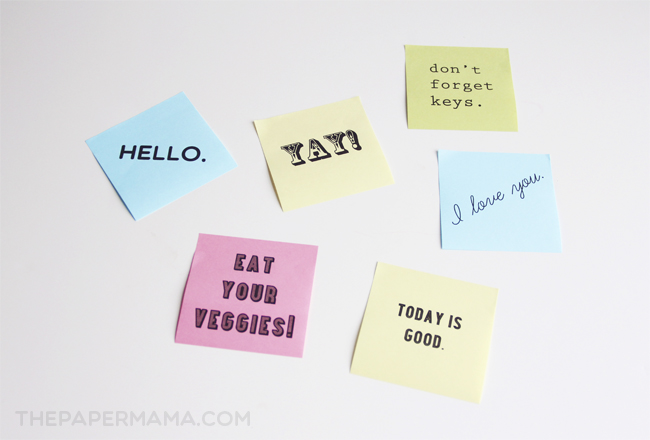 Post-it Note Printable Template // thepapermama.com
