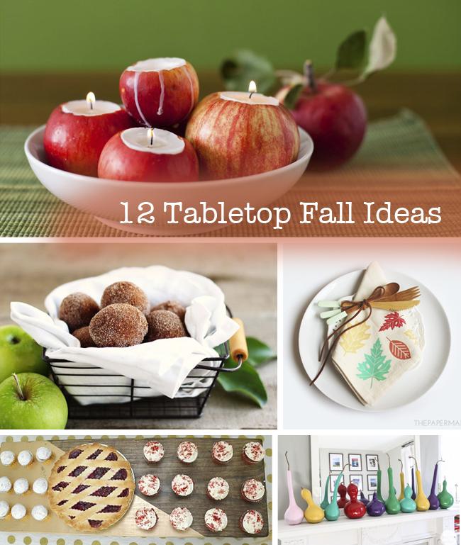 12 Tabletop Fall Ideas