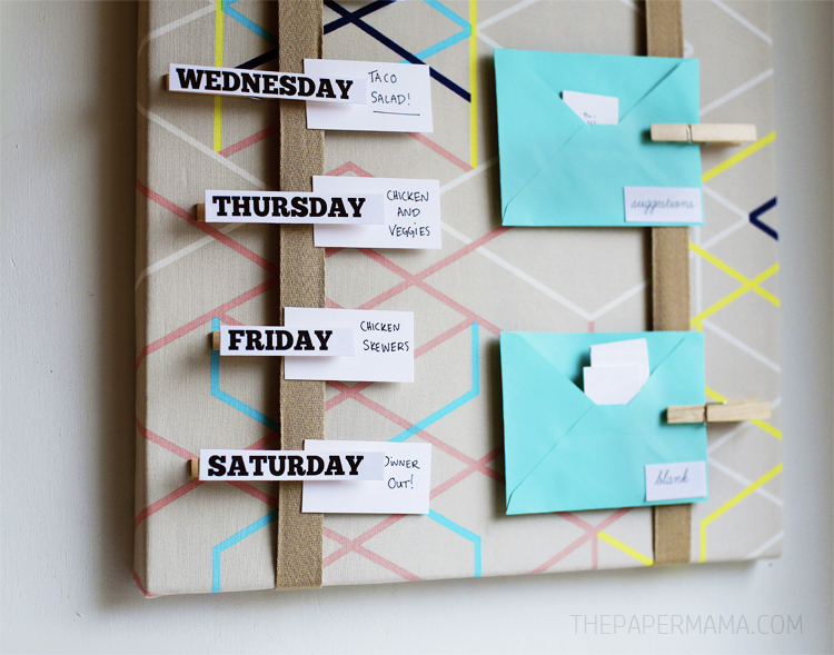 Meal Plan Board DIY